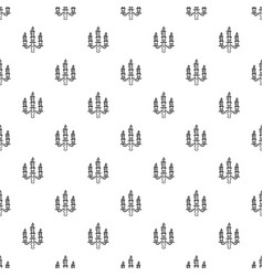 Candelabra candle pattern seamless vector