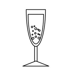 champagne cup isolated icon vector image