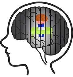Child depression vector image