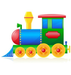 children locomotive vector image