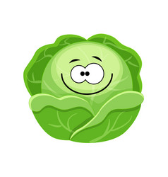 cute cartoon cabbage character vector image