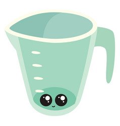 cute measure cup on white background vector image