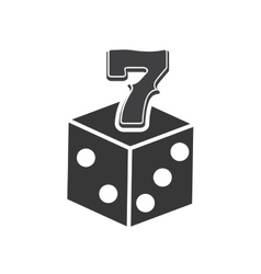 Dice seven casino vegas vector
