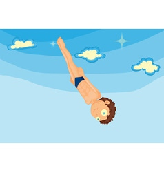 Diving vector image