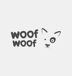dog face logo icon branding design vector image