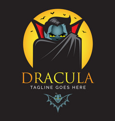 dracula or vampire logo vector image