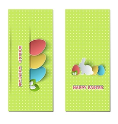 Easter cards vector image