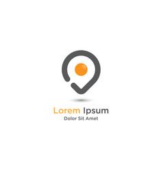 Egg logo design template vector