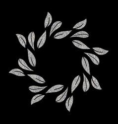 Elegant silver textured floral frame vector
