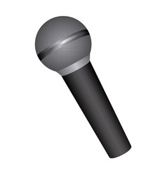 Emblem microphone icon stock vector
