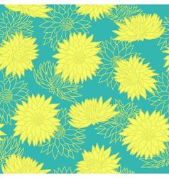 Floral seamless pattern chrysanthemum vector image