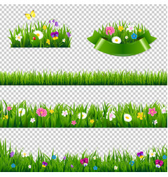 flowers borders collection vector image