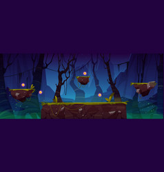 Game level background with platforms and items vector
