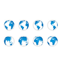 globe earth 3d world map realistic globes vector image