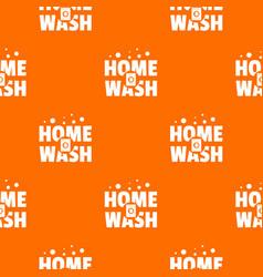 home wash pattern orange vector image