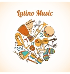 Latino musical card vector