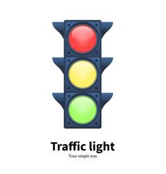 luminous traffic light signal vector image