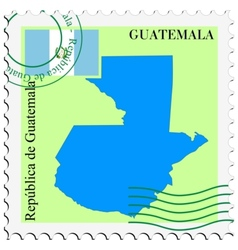 mail to-from Guatemala vector image
