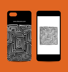 Mobile phone design labyrinth square vector