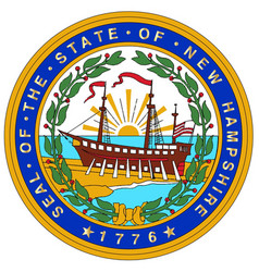 new hampshire state seal vector image