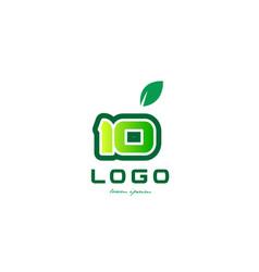 Number 10 numeral digit logo icon design vector