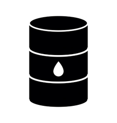 Oil barrel icon isolated vector