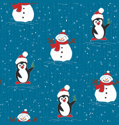painted wallpaper christmas pattern vector image