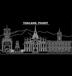phuket silhouette skyline thailand - phuket vector image