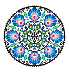 Polish traditional folk pattern in circle vector