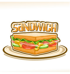 Poster for a sandwich vector