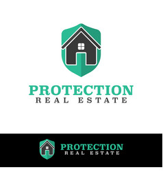 protect home security logo design template vector image