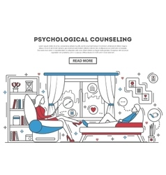 Psychological counseling website template vector