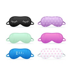 realistic detailed 3d color different sleep mask vector image