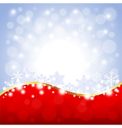 Red and white Christmas background vector image