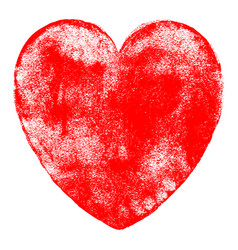 red heart symbol watercolor texture vector image vector image