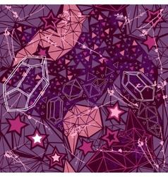 Retro geometric pattern on dark background vector image