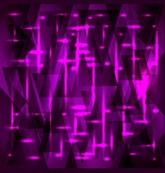Rich purple pattern of fragments and triangles vector