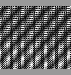 seamless black diagonal knitting vector image