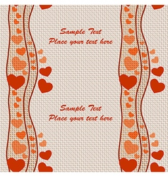 Seamless holiday theme pattern on Valentines Day vector image