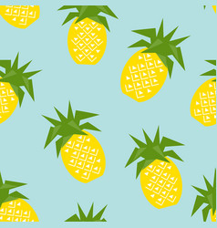 seamless pineapple geometric pattern vector image