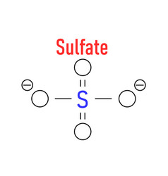 Skeletal chemical formula of sulfate anion vector