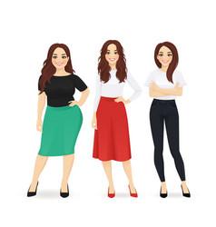 three elegant business women vector image
