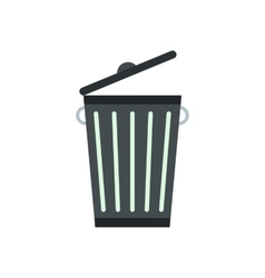 Trash can flat vector image