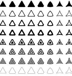 Triangle polygon set vector