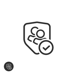 user group privacy icon line outline vector image