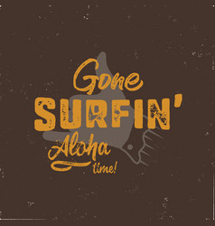 Vintage hand drawn summer t-shirt gone surfing vector