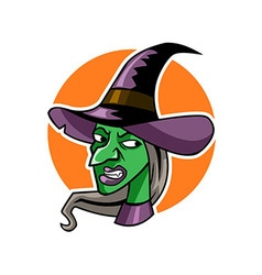 Witch head vector