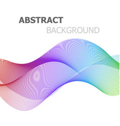 abstract colorful line wave background vector image vector image