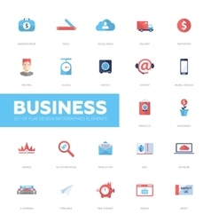 Business infographics flat design icons web vector image vector image