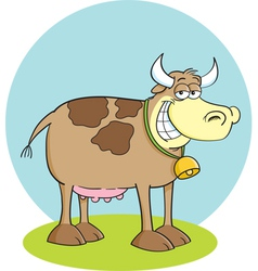 Cartoon Happy Cow vector image